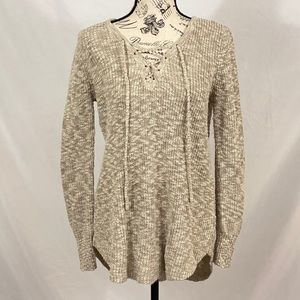 Natural Reflections Cream Sweater Size Small